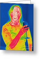 Thermogram Of A Woman Greeting Card