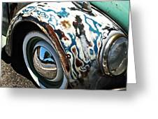 61 Volkswagon Bug Greeting Card