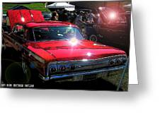 62 Chevy Impala Ss Back Greeting Card
