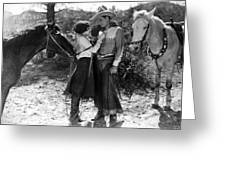 Silent Film Still: Couples Greeting Card