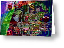 636 People Masks Greeting Card