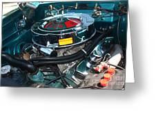65 Plymouth Satellite Engine-8482 Greeting Card