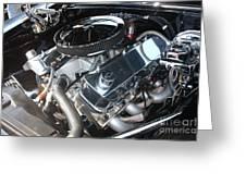 67 Black Camaro Ss 396 Engine-8033 Greeting Card