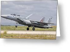 An F-15c Eagle Baz Aircraft Greeting Card