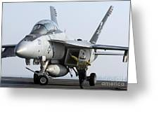 An Fa-18f Super Hornet During Flight Greeting Card