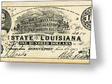Confederate Banknote Greeting Card