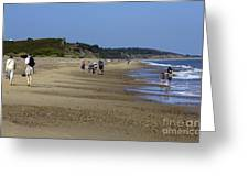 Dunwich Beach Suffolk. Greeting Card