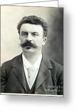 Guy De Maupassant Greeting Card