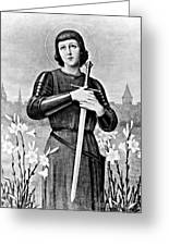 Joan Of Arc, French National Heroine Greeting Card
