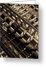 Lloyd's Building London Abstract  Greeting Card