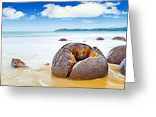 Moeraki Boulders Greeting Card