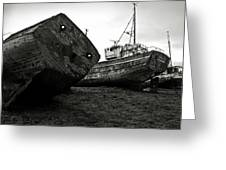 Old Abandoned Ships Greeting Card