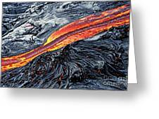 River Of Molten Lava Greeting Card