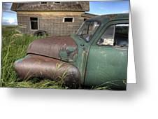 Vintage Farm Trucks Greeting Card
