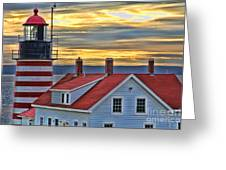 West Quoddy Head Lighthouse 3822 Greeting Card
