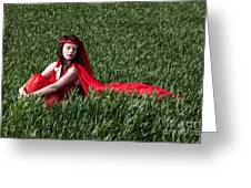 Woman In Red Series Greeting Card