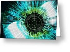 Biometric Eye Scan Greeting Card