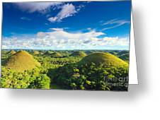 Chocolate Hills Greeting Card