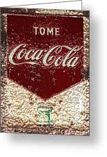 Coca Cola Classic Vintage Rusty Sign Greeting Card