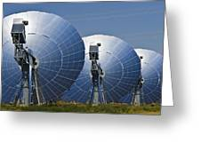 Concentrating Solar Power Plant Greeting Card