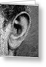 Human Ear Greeting Card