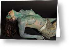 Kasper Body Painting Greeting Card