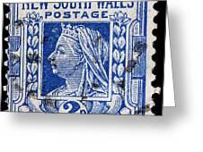 old Australian postage stamp Greeting Card