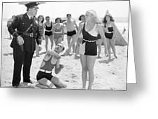 Silent Still: Beach Greeting Card
