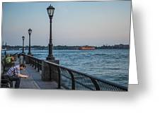 View From Battery Park City Greeting Card