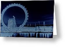 London Eye Art Greeting Card