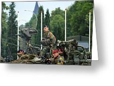 Members Of A Recce Or Scout Team Greeting Card by Luc De Jaeger