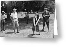 Silent Film Still: Golf Greeting Card
