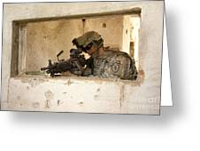 U.s. Army Ranger In Afghanistan Combat Greeting Card