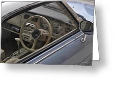 91 Nissan Figaro Interior Greeting Card