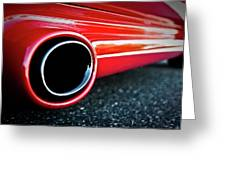 94 Vette Side Pipes Greeting Card