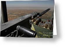 A .50 Caliber Machine Gun Points Greeting Card by Stocktrek Images