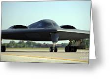 A B-2 Spirit Taxis Onto The Flightline Greeting Card