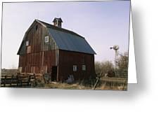 A Barn On A Farm In Nebraka Greeting Card