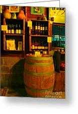 A Barrel And Wine Greeting Card
