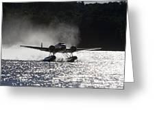 A Beechcraft D-18s Floatplane ,built Greeting Card