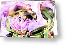 A Bees World Greeting Card