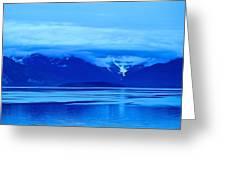 A Blue Slice Of Alaska Coast Greeting Card