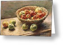 A Bowl Of Apples Greeting Card