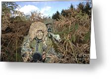 A British Army Sniper Team Dressed Greeting Card