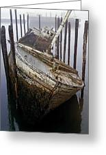 A Broken Boat Greeting Card
