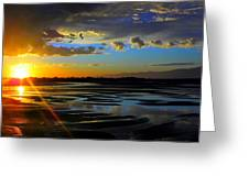 A Burst Of Sunset Greeting Card