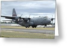 A C-130 Hercules Lands At Mcchord Air Greeting Card