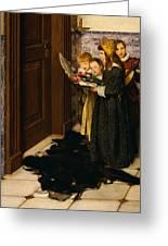 A Carol Greeting Card by Laura Theresa Alma-Tadema
