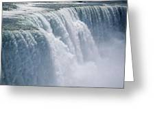 A Cascade Of Water Thunders Greeting Card