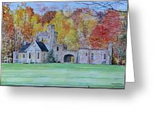 A Castle In Autumn. Greeting Card